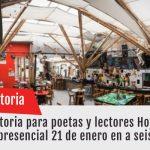 Convocatoria para poetas y lectores Hoja Negra (Evento presencial 21 de enero en a seis manos)